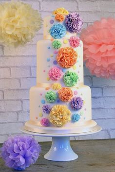 Pom Pom, from the wonderful 2014 new #weddingcake collection from The Cake Store. cake decorating ideas