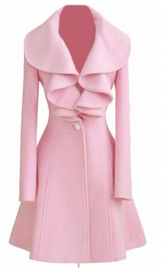 Love this pink trench coat