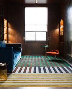 """I always learn and educate myself through the design process. I'm always open to new things regardless of how they are perceived.""-… Hotel Carpet, Rugs On Carpet, Carpets, Christopher Kane, Contemporary Rugs, Modern Rugs, Modern Carpet, Mackintosh Chair, Dining Room Paint"