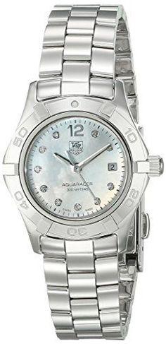 #diamondwatch #diamondwatchesforwomen TAG Heuer Women's WAF1415.BA0824 Aquaracer 28mm Stainless Steel Diamond Dial Watch Check https://www.carrywatches.com