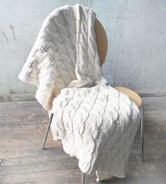 Manta de tricô para poltrona