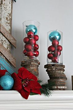 Usually I'm very traditional when it comes to decorating for Christmas. I do green, red, and gold with angels and Santas. However, th... Easy Christmas Decorations, Christmas Tree Design, Christmas Tree Themes, Green Christmas, Christmas Angels, Christmas Holidays, Christmas Wreaths, Turquoise Christmas Decorations, Christmas Ideas