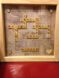 Scrabble art - family name