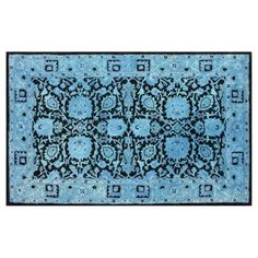 Check out this item at One Kings Lane! Clairbornne Rug, Blue/Black