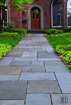 pavers-pennsylvania-bluestone Our future front porch and walkway. Love this!