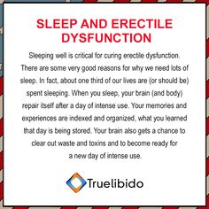 Sleep And #ErectileDysfunction