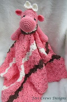 Ravelry: Hippo Huggy Blanket Crochet Pattern pattern by Teri Crews