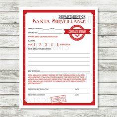 Letter from santa printable elves santa and shelves caught being nice elf warning warning from santa by wintsprints spiritdancerdesigns Choice Image