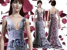 Sims 4 long dress 5ss025