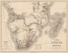 """from """"Evolution of the Map of Africa"""" by noelle West Africa, North Africa, Vintage Wall Art, Vintage Walls, Italian Unification, Asia Map, Map Wallpaper, Central Europe, Cartography"""