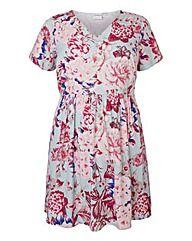 Junarose Floral Print Skater Dress