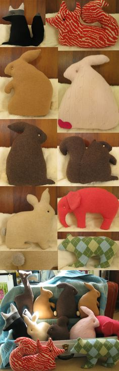 a bunch of adorable softiness :) diy stuffed animals