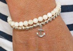 beachcomber silver anchor bracelet
