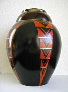 Emile Lombart voor Faiencerie St. Ghislain - Art Deco vaas
