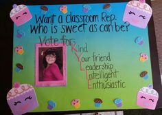A poster my daughter and I made for student council.