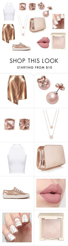 """""""Rose Gold Every Thing"""" by abigailharris414 on Polyvore featuring Boohoo, Kate Spade, Carolee, Michael Kors, WearAll, Superga and Jouer"""