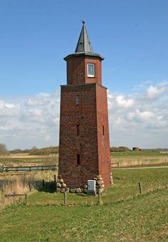 Leuchtturm Dagebüll-Koog, Nordsee, Germany