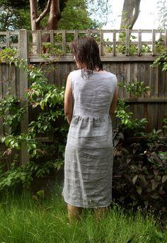 Two Tone Summer Linen Dress