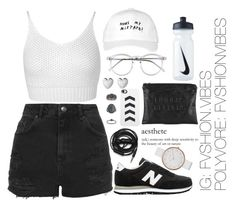 """""""Untitled #25"""" by fvshionvibes ❤ liked on Polyvore featuring Miss Selfridge, Topshop, Wildfox, October's Very Own, New Balance, NIKE, Skagen, Finders Keepers, Urbanears and Links of London"""
