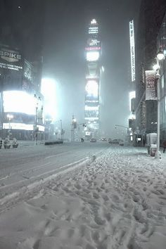 Blizzard, Times Square, New York City