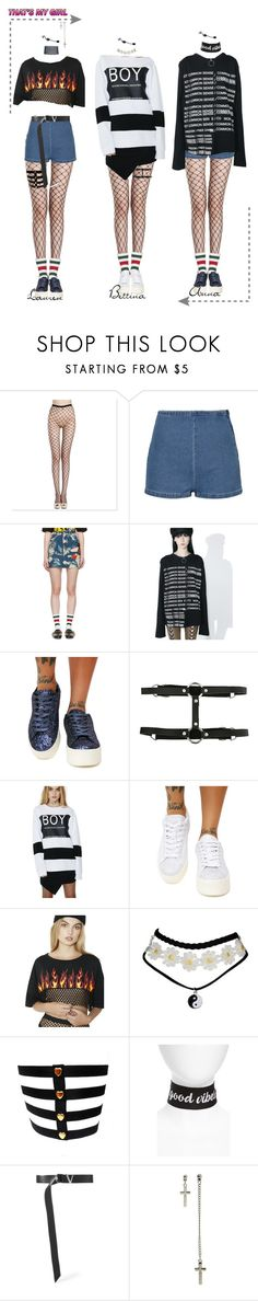 """""""Purr _  ❝𝒯𝒽𝒶𝓉'𝓈 𝑀𝓎 𝒢𝒾𝓇𝓁❞ @ M!ountdown"""" by purrfectas ❤ liked on Polyvore featuring Gucci, Not Common Sense, Cape Robbin, Hot Topic, BOY London, Rock 'N Rose, New Friends Colony, Versace and purrtsmgrlera"""