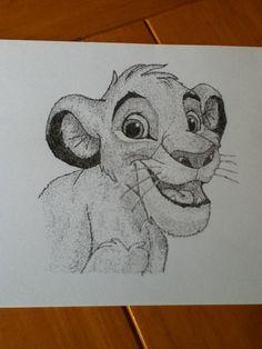Simba in pointillism