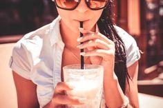Free Image: A Girl Drinking Milkshake Drink in Caffe   Download more on picjumbo.com!