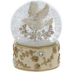 Gisela Graham Medium Dove Snow Globe ($32) ❤ liked on Polyvore