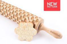 Engraved rolling pin with Rabbit pattern #rollingpin #rabbit #stodola