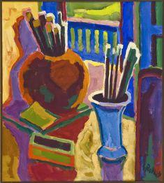 Karl Schmidt-Rottluff - Paintbrushes (In Memoriam Walter Gramatté) [1963]