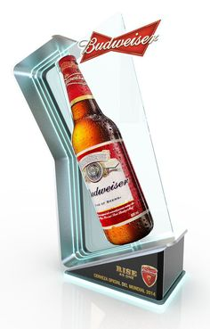 budweiser Posm on Behance Pos Display, Wine Display, Display Design, Display Stands, Bar Counter Design, Old Beer Cans, Stage Set Design, Displays, Point Of Purchase