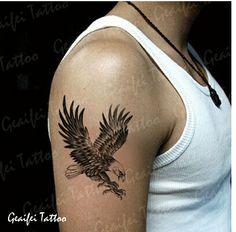 eagle in flight tattoo Small Eagle Tattoo, Eagle Tattoos, Up Tattoos, Mini Tattoos, Tattoos For Guys, Tattoo Design Drawings, Tattoo Designs, Scandinavian Tattoo, Hidden Tattoos