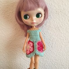 Vestido de crochet para Blythe + par de calentadores de Blytheofmine en Etsy