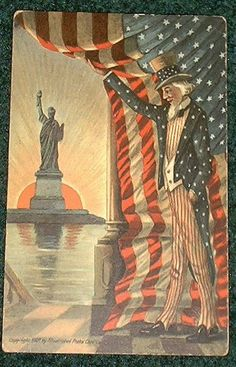 .Uncle Sam and Lady Liberty