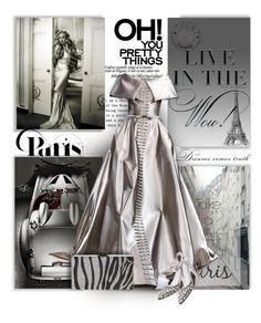 """""""Dreams Come True in Paris"""" by mimi1207 ❤ liked on Polyvore featuring Georges Hobeika and Edie Parker"""