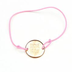 By May armbandje Rosé i love friday