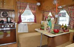Vintage camper restored...I like this one, nice and simple, but delightful :)