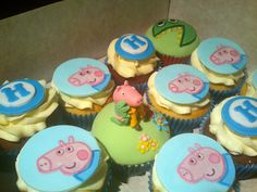 George Pig Cupcakes - Cake by Danielle Lainton