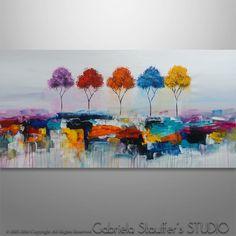 Abstracto árbol pintura pintura Original pintura por Catalin