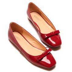 Elegant Bowknot and Square Toe Design Women's Flat Shoes