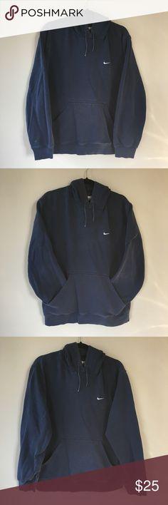 2f102b989602 Vintage Nike Sweatshirt Hoodie Navy Blue Size M Solid Vintage Nike  Sweatshirt Hoodie