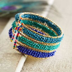 Himalayan Sky Beaded Bracelet   National Geographic Store