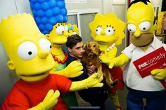 mika and melachi with the simpsons