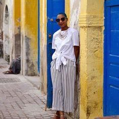 Travel chic. @niag // Essaouira, Morocco. #travelnoire #essaouira
