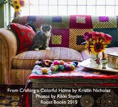 Mod Granny Square Blanket from Crafting a Colorful Home (Roost Books) by Kristin Nicholas. Photo by Rikki Snyder Kristin Nicholas Designs | Patterns & Books