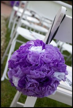 Neat idea but maybe tulle instead of tissue paper