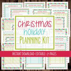 Printable Christmas Holiday Planner- track gifts, parties, special events, and more!