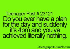 Teenager Post? Forget that- this is a Mommy with Toddler and/or Newborn Post!