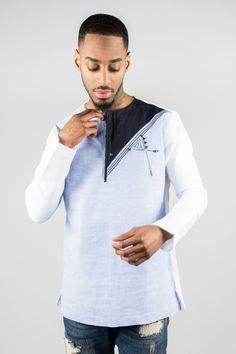 African linen shirt Source by African Attire, African Wear, African Dress, African Models, African Men Fashion, Mode Masculine, Trousers Women, Pants For Women, King Fashion