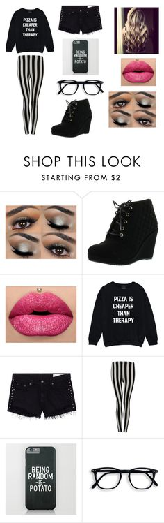"""""""Camille Estraun-OC"""" by weirddemigod ❤ liked on Polyvore featuring rag & bone/JEAN and Pilot"""